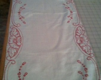 Vintage Linen-New embrodery Redwork