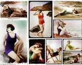 Bathing Beauties #3 - Altered Arts -  Digital Collage Sheet