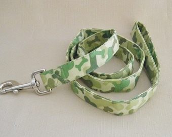 Camo Bones green  - Dog Leash