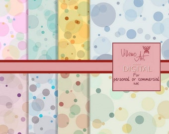 Digital Patterns - VillemoART - DOTS set 001 - Instant Download - Printable Scrapbook Papers Background - Personal and Comercial Use