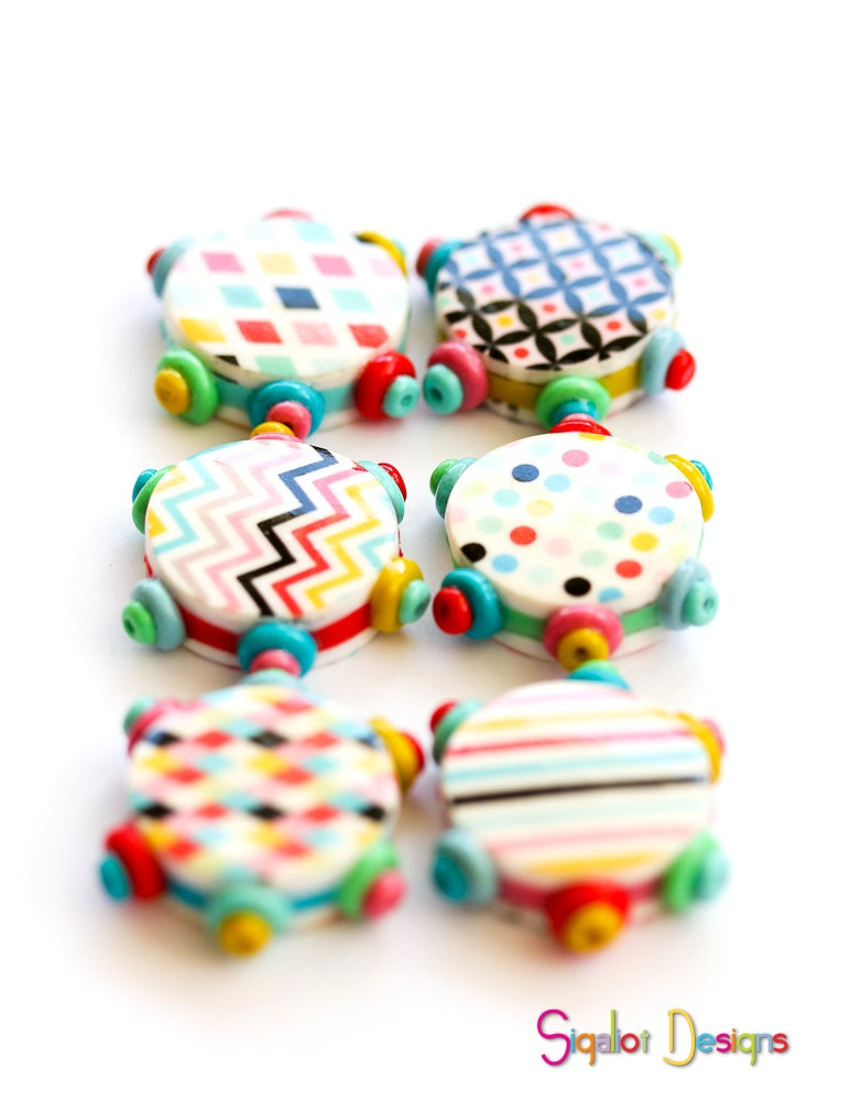 how to make flat polymer clay beads