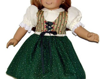 "Vest Dress 18"" dolls such as American Girl clothes pattern PDF 82703"