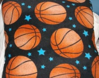 Pillow with Basketball Fleece Cover  #4113