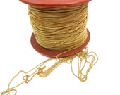 Yellow / Orange Brass Curb Chain - soldered (10 Feet) (C606)