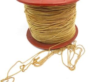 Yellow / Orange Brass Curb Chain - soldered (10 Feet) (CP238)
