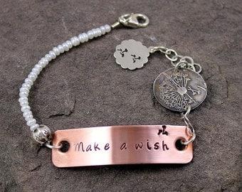 Make A Wish Dandelion Mixed Metal Bracelet