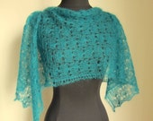 Lace Scarf Blue Green Teal
