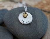 medium circle customizable pewter necklace with gemstone or charm