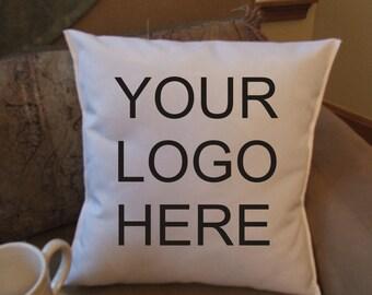 logo throw pillow cover