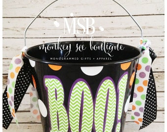 Custom BOO! Halloween Candy Bucket