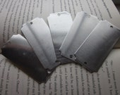 5 TUMBLED Aluminum Scalloped Edge Rectangle Blanks - 18 Gauge