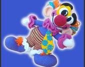 Amigurumi Pattern Crochet Miliki Clown DIY Instant Digital Download PDF