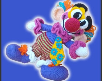 Amigurumi Pattern Crochet Miliki Clown DIY Instant Digital Download PDF