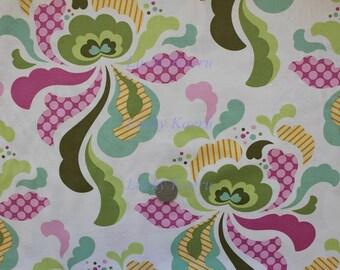 Heather Bailey, Freshcut, Groovy Olive Floral Fabric - Half Yard