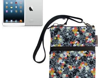 iPad Mini Bag / iPad Mini Case / iPad Mini Cover / iPad Mini Sleeve / TRAVEL BAG  - - Fast Shipping Urban Flowers Fabric