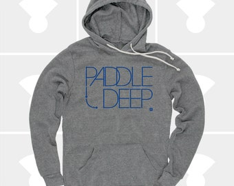 Women's Hoodie Paddle Deep, Surfing, SUP, Stand Up Paddle Board, S,M,L,Xl, Women's Pullover Sweatshirt (Heather Grey) for Women