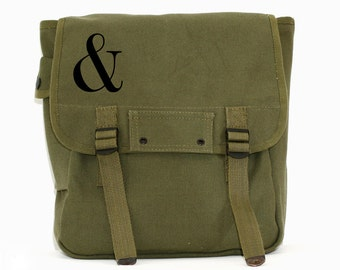Ampersand Backpack, Canvas Backpack, Rucksack, Travel Backpack, Festival Bag, Type, Serif, Men's Backpack, Women's Backpack