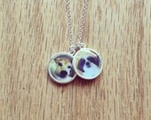 CUSTOM pet portrait pendant | resin photo pendant | sterling silver necklace | gift for her