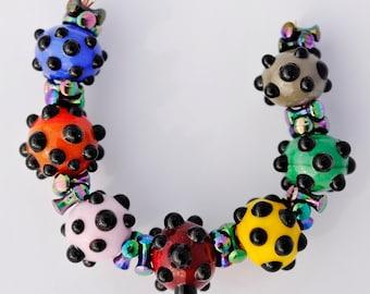 Bumpy Bead Set, Lampwork SRA