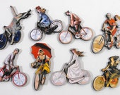 Vintage Bicycles - Collection of 8 Laser Cut Wood Pieces