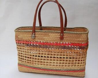 wicker picnic purse
