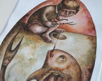The Fish Egg ~ original painting