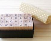 B TYPE - Mini Capital letter stamp Set