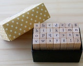 A TYPE - Mini Alphabet Stamp Set - font m type - Lowercase