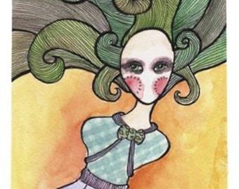 Femme Joker Speechless Girl - 11 x 17 Print