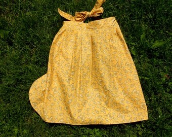 Apron Woman's Half Apron Yellow Lackadaisical Afternoons Pretty in Pleats