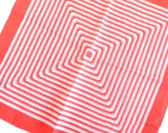 Mid Century Optical Art - a vintage 1950's Burmel Silk Scarf