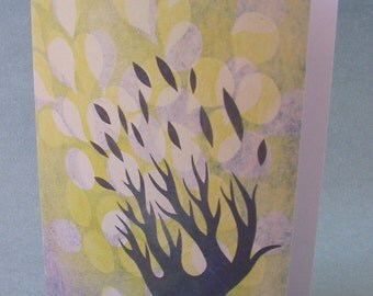 5 x 7 Notecard - A013 POLYP // sympathy card - botanical card - nature card - tree card - thinking of you card - autumn - fall leaves