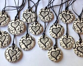 Tatting Pressed Ceramic Necklace