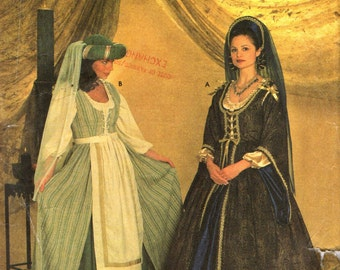 Simplicity 7756 MEDIEVAL RENAISSANCE COSTUMES - Lady and Servant