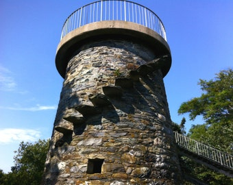 Lookout stone tower stock photo image free use