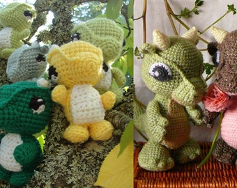 Baby and Wee Tiny Dragons pattern PDF combo