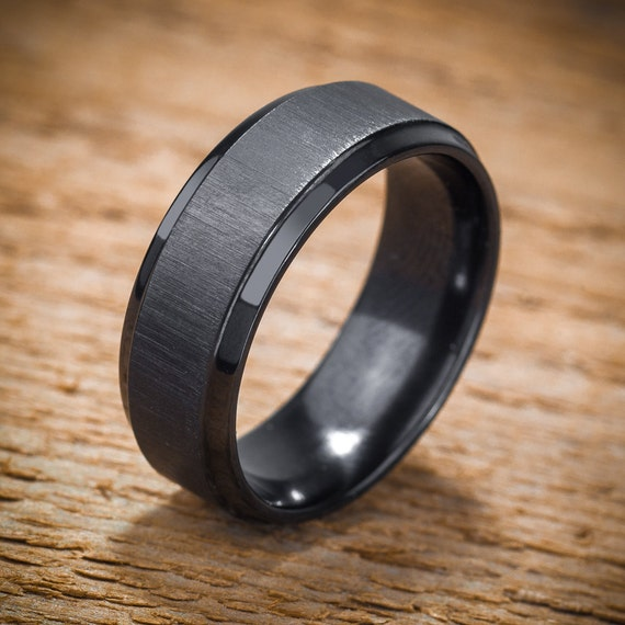 mens black wedding rings unavailable listing on etsy 5788