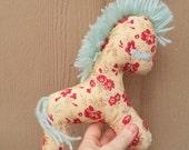 Vintage Horse Toy Retro Horse Doll Vintage 1950s Toy Vintage 1960s Toy Stuffed Horse Plush Pony