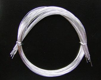 Mizuhiki - Silver Mizuhiki - Japanese Decorative Paper Strings Cords Silver