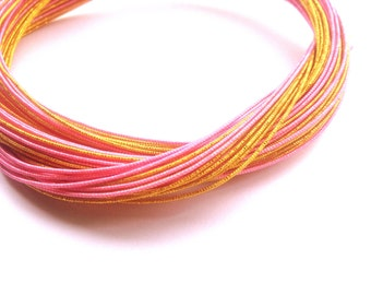 Mizuhiki Japanese Decorative Paper Strings Cords Gold And Pink