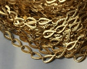 Gold tone drop link chain link size 8x5mm, 3 ft (item ID L-5003)