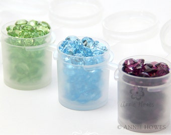 Paint Pots Paint Pods for Storing Paints and Jewelry Findings, Sort Your Swarvoski Crystals. 10 Pack.