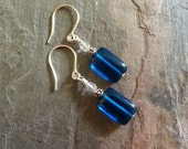 Minimalist TARDIS - Doctor Who Inspired Earrings
