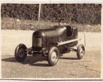 Antique Photo 'Soap Box Racer' Great Snapshot of a Soap Box Race Car - Identified Alvin Congdon Erwin Tennessee