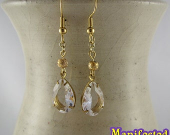 Crystal Earring gold tone Princess Serenity Sailor Moon Cosplay