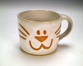 Cat Mug, Kitten Mug, Handmade Stoneware Coffee Mug