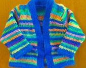 multicolor bright baby jacket hand knit