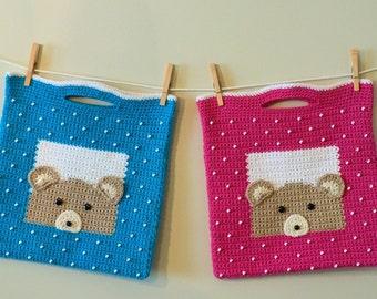 Teddy Bear Tote Crochet PATTERN - INSTANT DOWNLOAD
