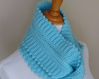 Glacial Waters Infinity Scarf - Crochet PATTERN INSTANT DOWNLOAD