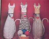 UNCUT Pattern Delightful Country Cat Doorstop